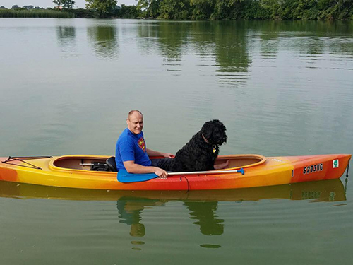 Jax (Guardian Bears Commander In Chief) and Dad out for a peaceful cruise
