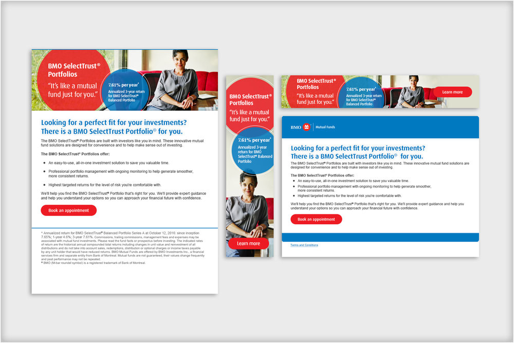 Bank of Montreal  - online banking communication