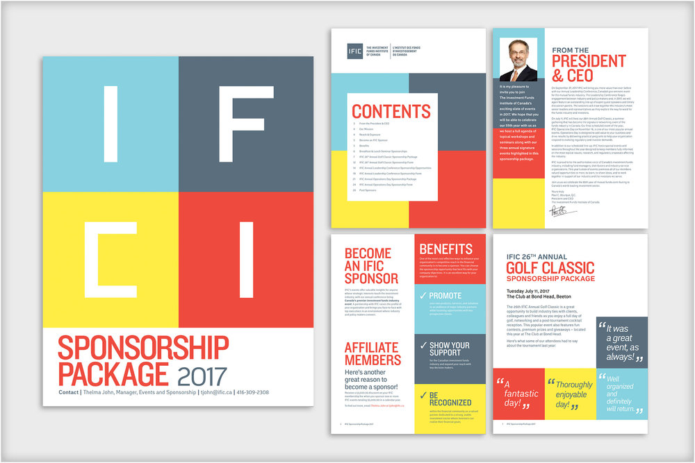 Investment Funds Institute of Canada (IFIC)  - sponsorship package booklet