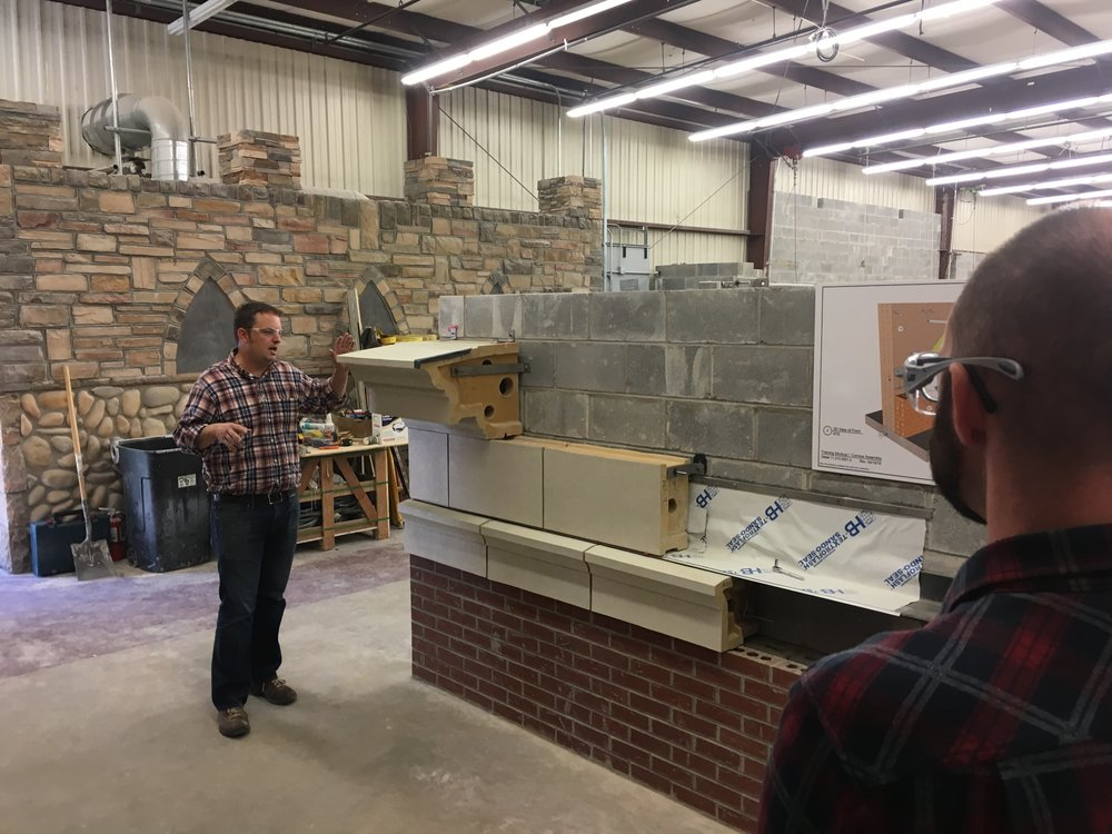 Roy Ingraffia from the International Masonry Institute leading a discussion about terra cotta assemblies and attachments.