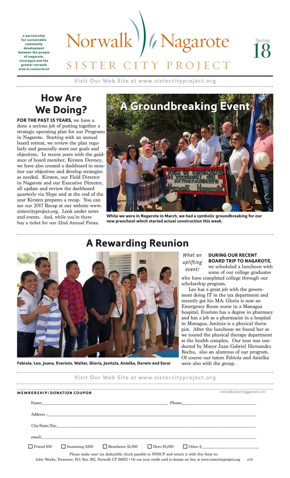N/NSCP Newsletter - Spring 2018 - page 1