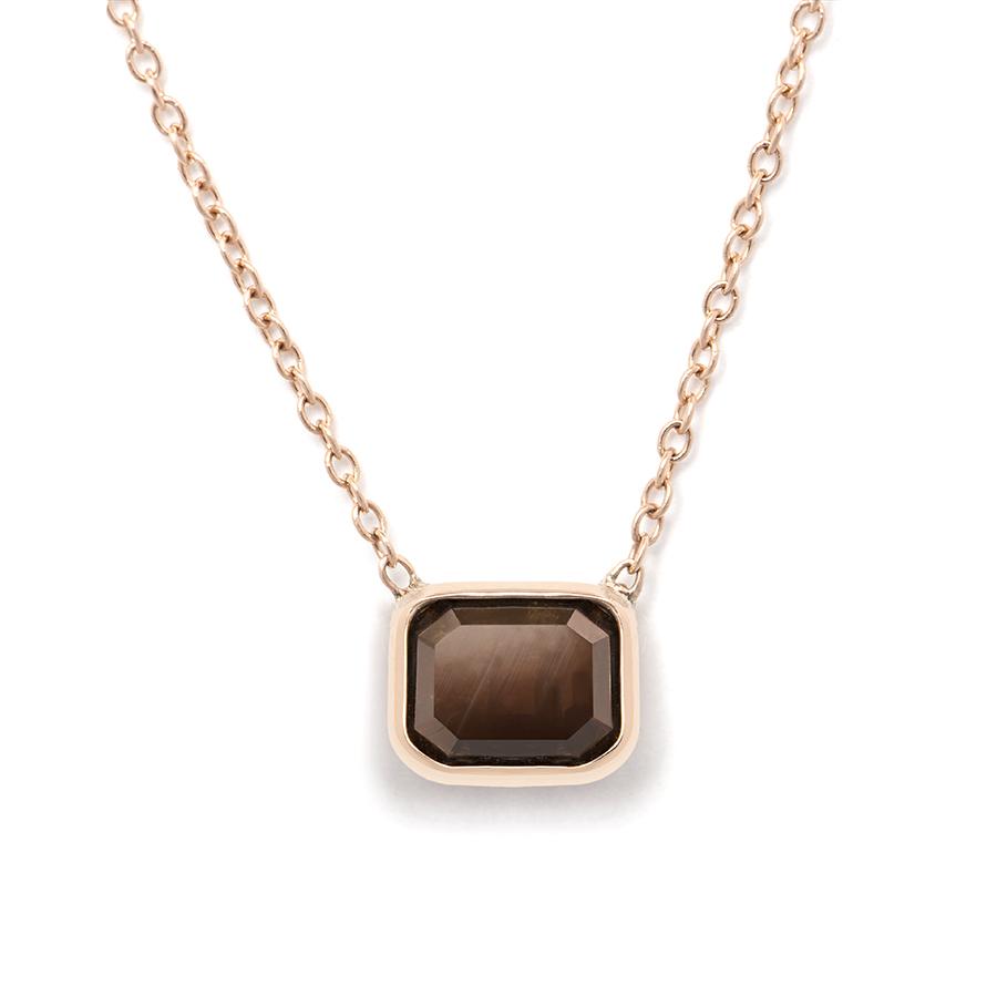 SC Georgia Alexandra Davis chocolate emerald necklace