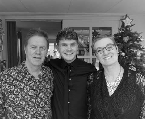 Me with papa and mama on Christmas morning, 2016
