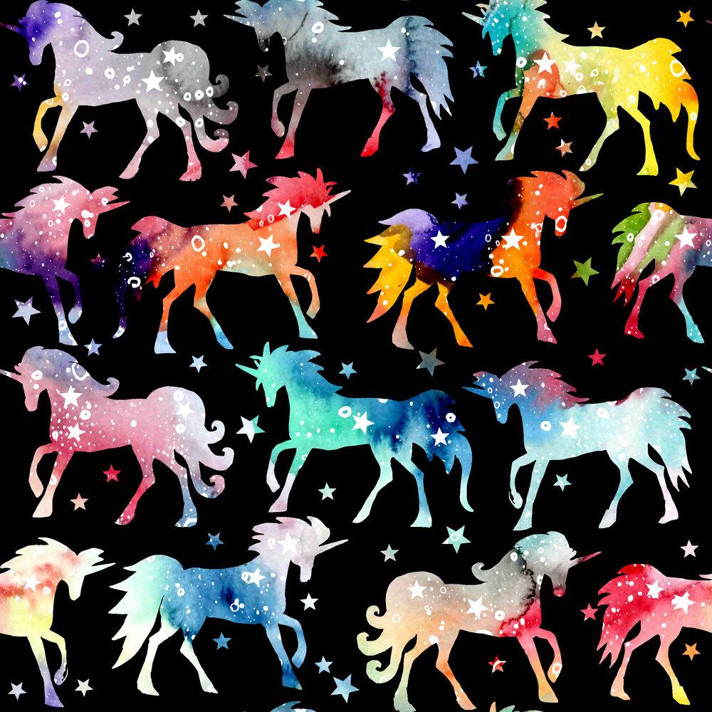rainbow galaxy unicorns - black background.jpg