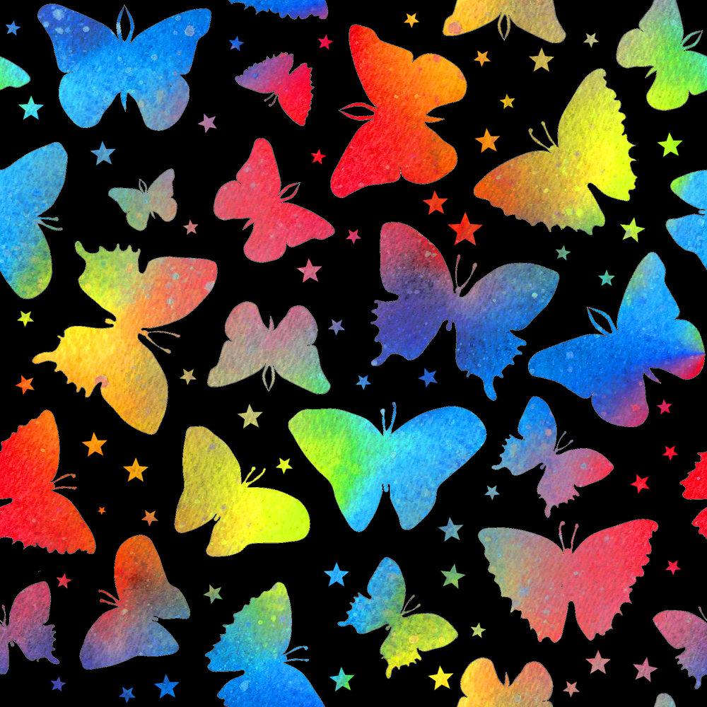 butterflies rainbow black stars.jpg