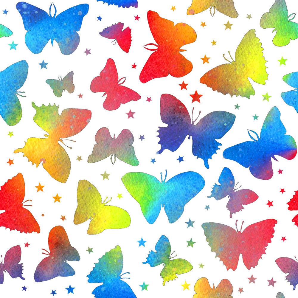 butterflies rainbow white stars.jpg