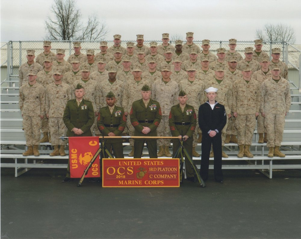 Charlie Company 3rd Platoon was my family of brothers at OCS. It was the best and worst of times. (USMC)