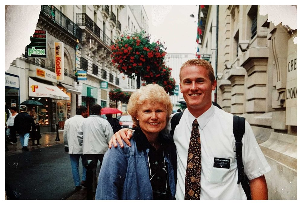 Marc's Mom visiting him in Nantes, France.