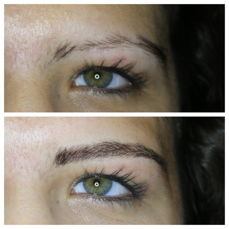 microblading, before and after microblading, microbladed brows, new york brows, eyebrow tattoo, tattoo eyebrows, scar coverup, permanent makeup, semi permanent makeup.jpg