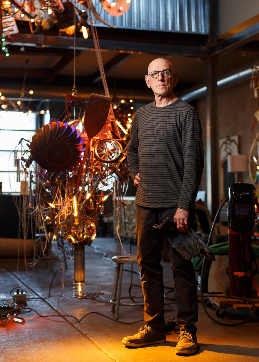 Warren Muller - What elevates Warren's work from mere craftsmanship is his visionary outlook. Warren rearranges objects and incorporates an iconography of myths, fairy tales, and personal idiosyncrasies into his lit sculptures. There is a sense of joy and play in his art that is infectious. It triggers a ripple effect and consequently his fame has spread largely through word-of-mouth rather than the conventional media outlets.