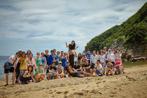One of our fantastic trips...group picture.
