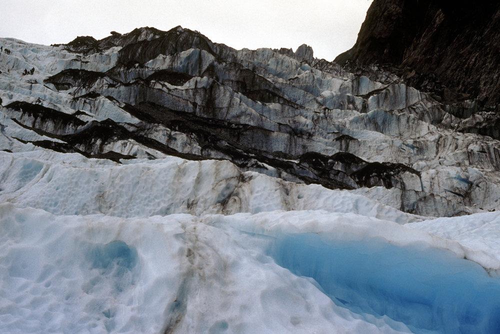 Franz Josef Glacier. Spot the climbers.