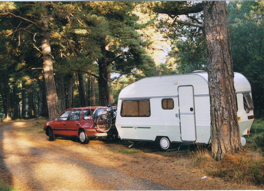 Wild camping near Loch Morlich.