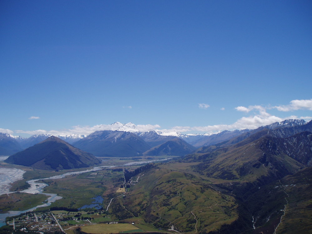 Skydiving over Glenorchy.