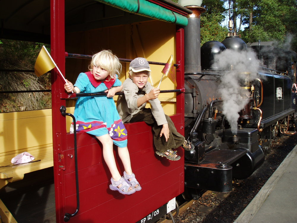 Puffing Billy steam train.