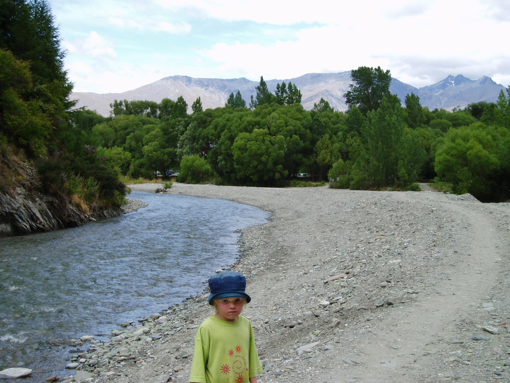 Freya by the Arrow River, 2004