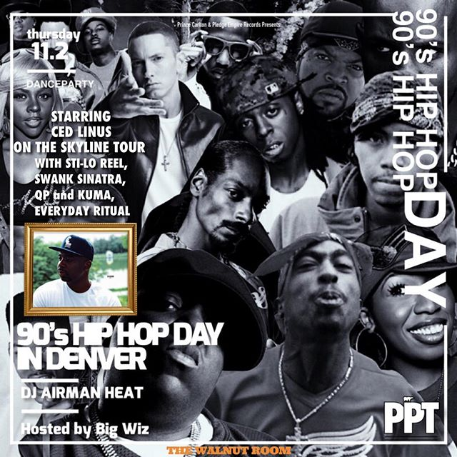 Denver is the next stop!!! Come party with us with the 90's Hip Hop Party with @cedlinus and #ThePledgePartyTeam