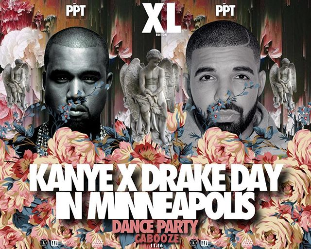 On Thursday @thecabooze we will have a major Dance Party!!! We will bring the Kanye x Drake Day in Minneapolis. 18+ come party!