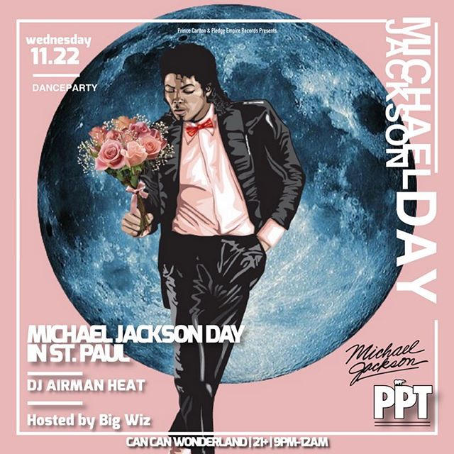Just announced: Michael Jackson Day in St. Paul at @cancanwonderland on 11/22. 9-12. Don't miss this Dance Party!!