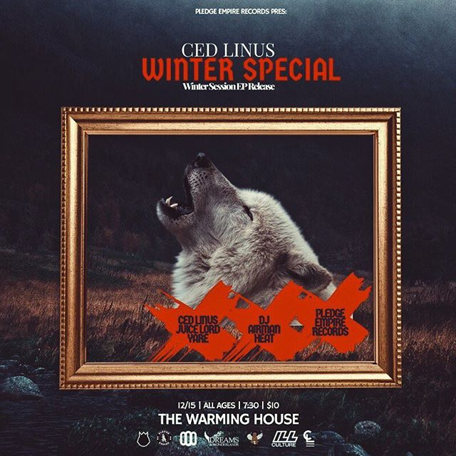 """December 15th. We have an exclusive event at @thewarminghousempls. Come see @cedlinus with his """"Winter Special""""."""