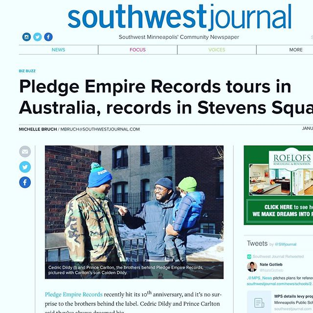 Thank you for the write up @swjournalmpls. Go to their website for the full story.  http://www.southwestjournal.com/news/biz-buzz/2018/01/pledge-empire-records-tours-in-australia-records-in-stevens-square/  http://www.southwestjournal.com/news/biz-buzz/2018/01/pledge-empire-records-tours-in-australia-records-in-stevens-square/