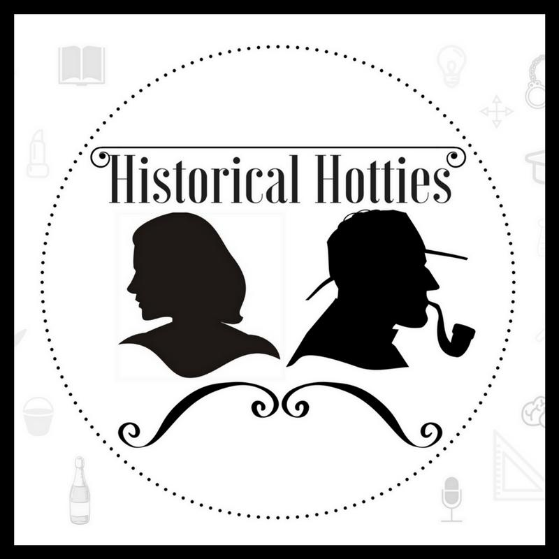 Historical Hotties Logo Black Border 800px x 800px
