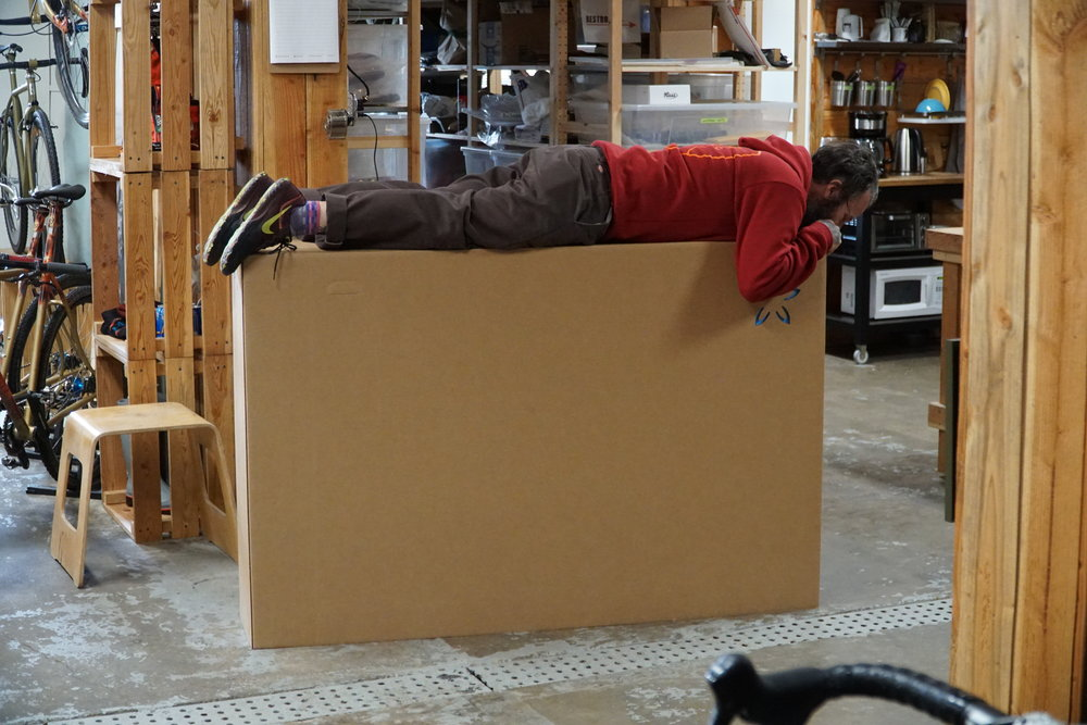 All bikes get packed and shipped out by jim, he gives them each a little extra love to seal up the box.