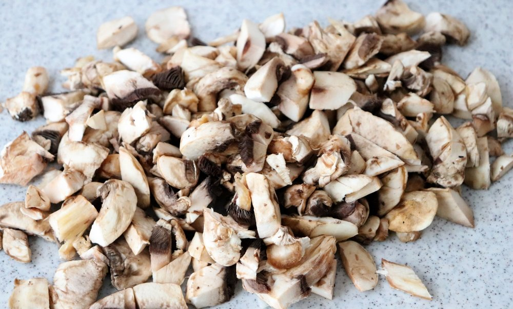 """Mushrooms have an earthy, """"beefy"""" flavor. By adding mushrooms you can decrease the amount of red meat - budget friendly and cancer-protective!"""