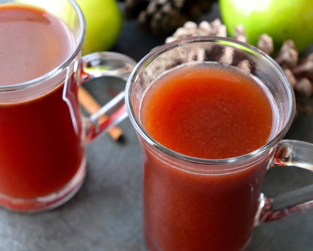 Sugar-Free Spiced Cherry Apple Cider