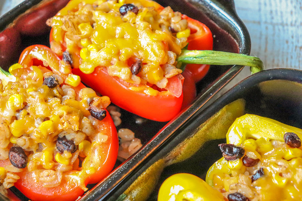 Mexican Barley Stuffed Peppers