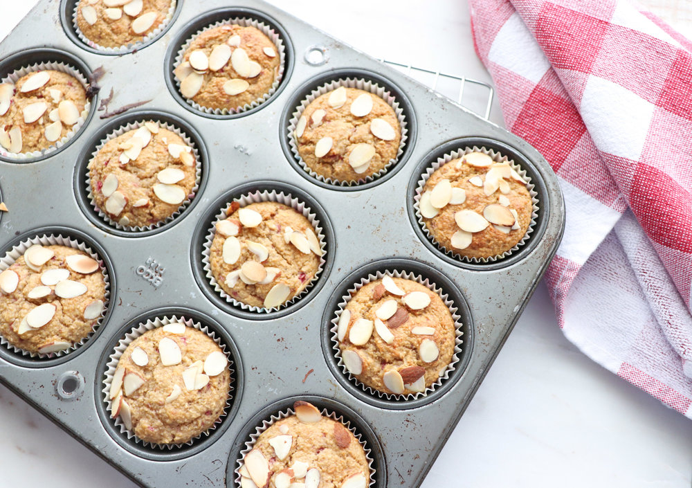 Strawberry Applesauce Blender Muffins
