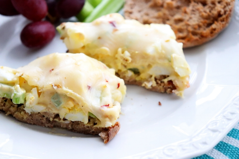 Egg Salad Melt with a Kick!