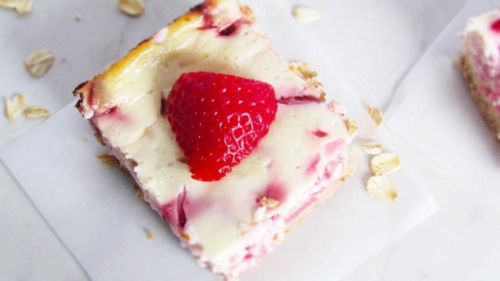 Strawberry and Yogurt Bars