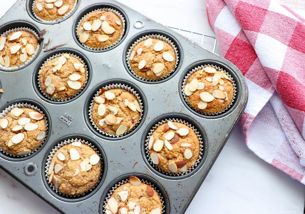 Strawberry Applesauce Blender Muffins
