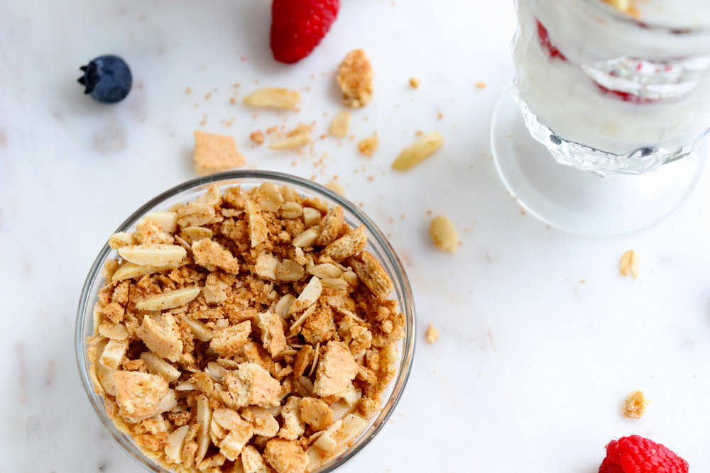 Yogurt Parfait with Graham Crumble