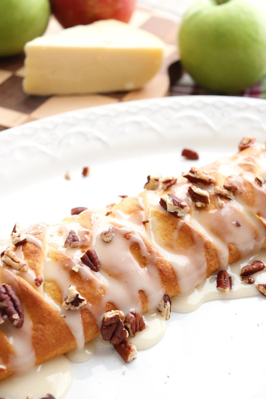 Cheesy Apple Butter Braid with Honey Glaze