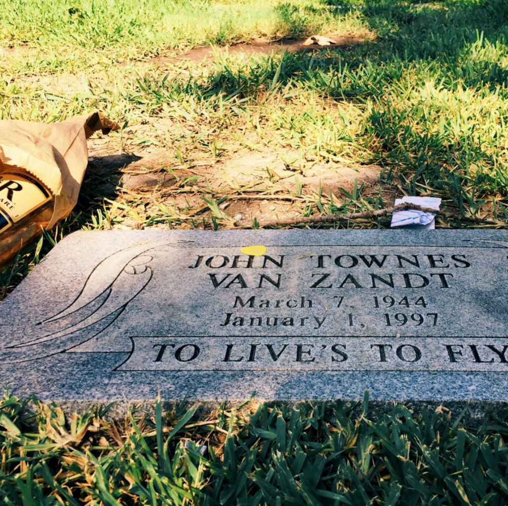 The Grave of Townes Van Zandt