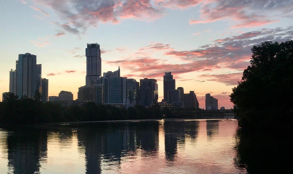 Sunrise on Town Lake Trail, September 18th, 2018