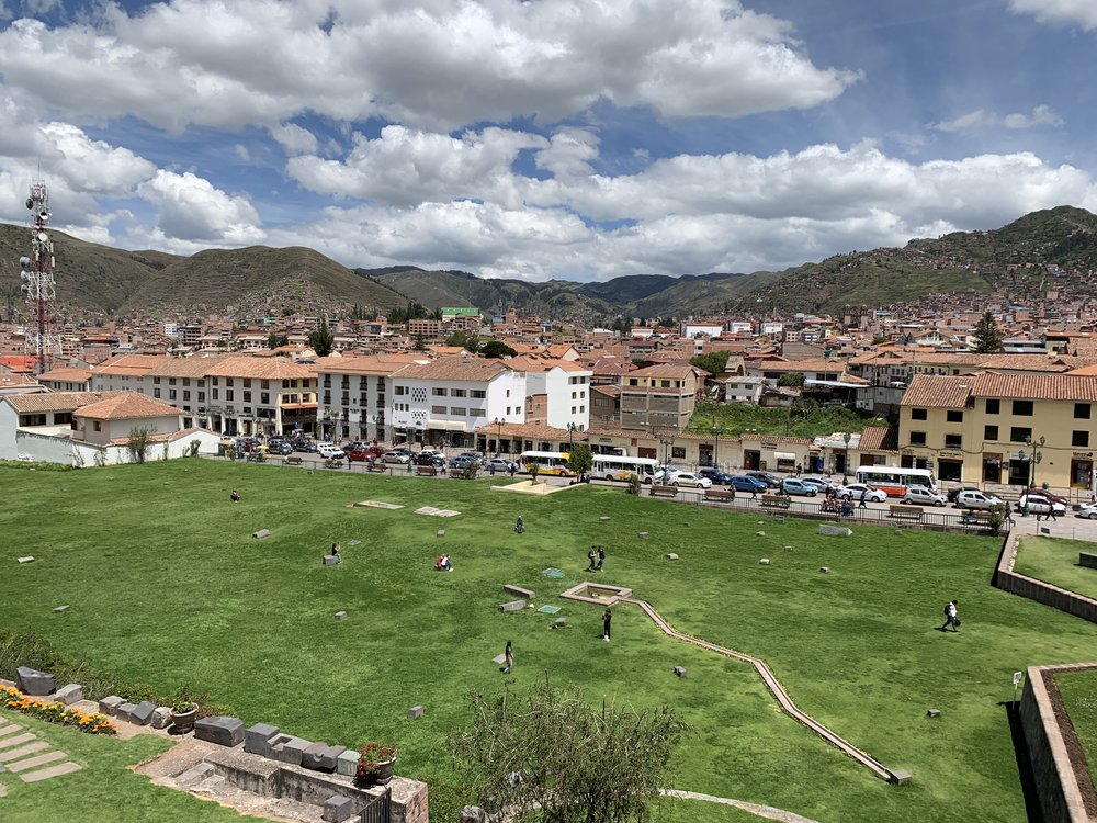 What was once an Inca statue garden
