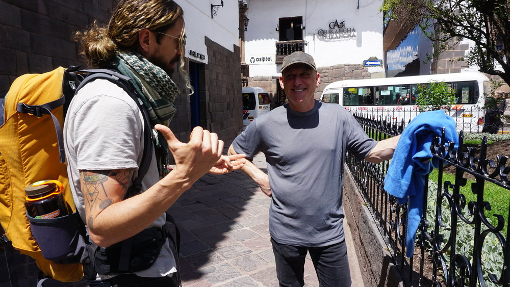 Zac and Bob practicing their Quechua