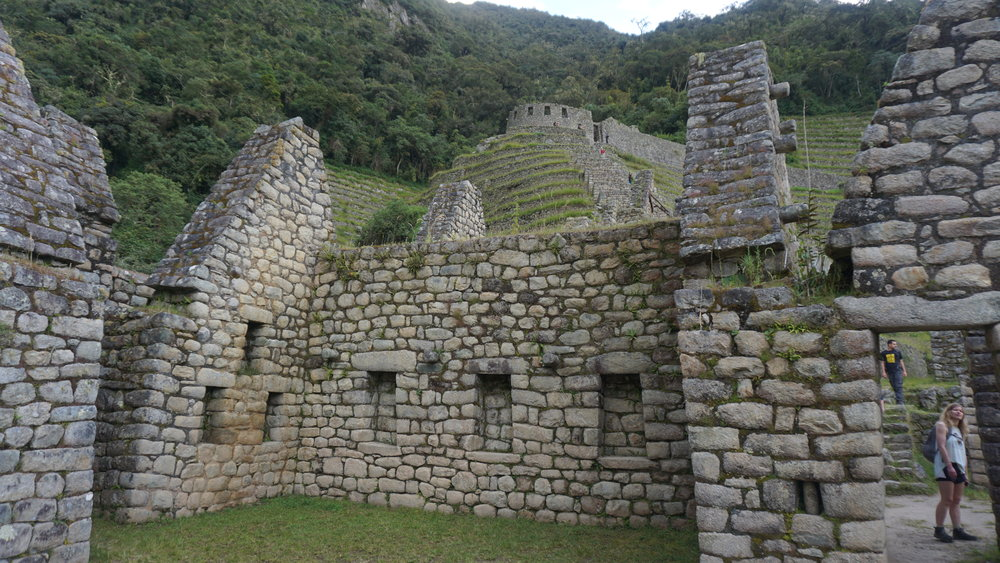 Gable roof style at Wiñay Wayna housing structure