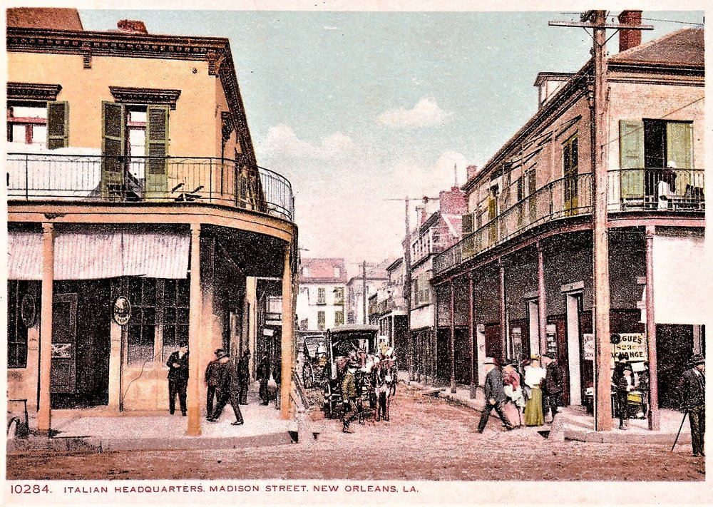 The Origins of the Modern American Mafia began on the docks of the French Quarter and Decatur St.