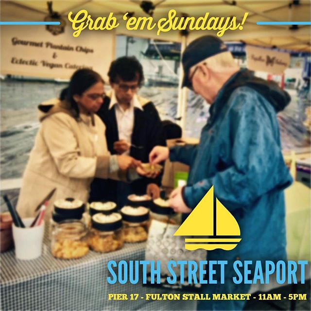 We're chippin' and dippin' again at South Street Seaport TODAY! Grab 'em while they last! Fulton Stall Market @ Pier 17, 11a - 5p. . . . . . . #plantbased #plantbasedwholefoods #vegan #vegetarian #southstreetseaport #fultonstallmarket #nycfarmersmarket  #nycvegan #vegansnacks #vegsnacks #plantainchips #veganchips #vegansofig