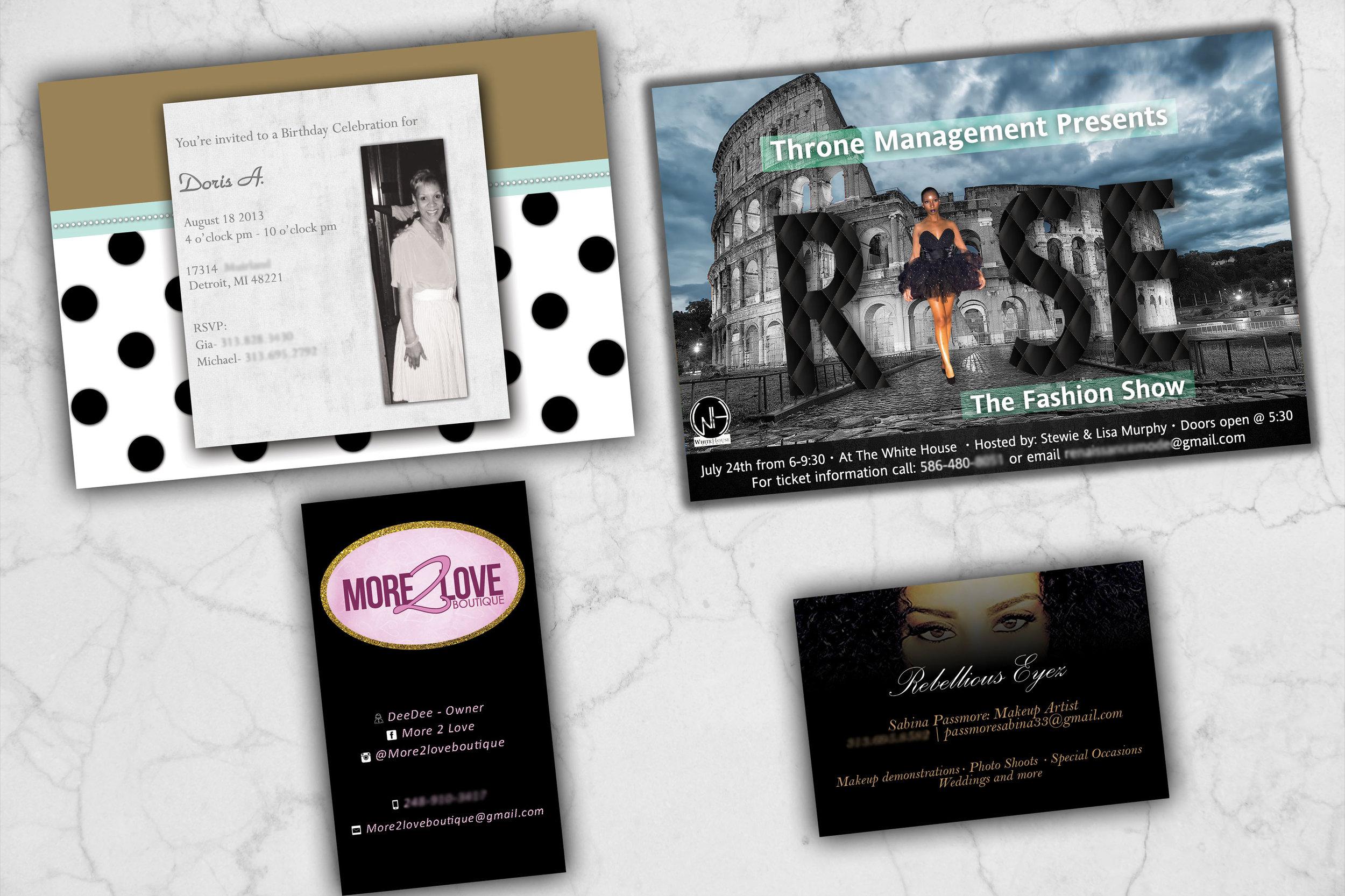 business cards flyers — damon boler creative professional