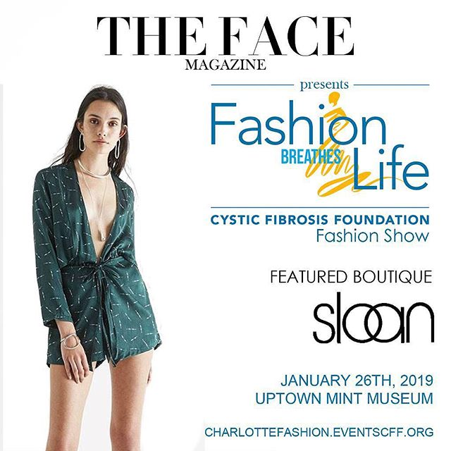 We are thrilled to introduce feature boutique @shopsloan to grace the runway this Saturday, January 26th. An event close to our hearts, we are thrilled to present 'Fashion Breathes Life' gala and fashion show to benefit the Cystic Fibrosis Foundation at @themintmuseum!  Sloan Models:  @lizhilliardhsm  @karenlichtin  @mrsmariaowen  @bessyork  @shelleywilfong  @stephanieinsko  @windyoconnorart  Catherine Mark . . . . #runway #gala #charity event #fashionshow #soiree #nightout #charlotte #happening #weekend #newyear #highfashion #designer #luxury #lifestyle #model #fashion #style #boutique #readytowear #hautecouture #streetstyle