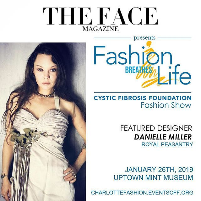 We are pleased to introduce feature designer @daniella_miller_ of @royalpeasantry.charlotte to grace the runway this Saturday, January 26th. An event close to our hearts, we are thrilled to present 'Fashion Breathes Life' gala and fashion show to benefit the Cystic Fibrosis Foundation at @themintmuseum! . . . #runway #gala #charity event #fashionshow #soiree #nightout #charlotte #happening #weekend #newyear #highfashion #designer #luxury #lifestyle #model #fashion #style #fashionhouse #citystyle #streetstyle #charlottestyle