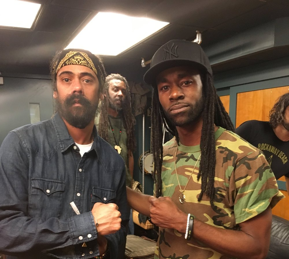 Damian Marley and myself at SNL