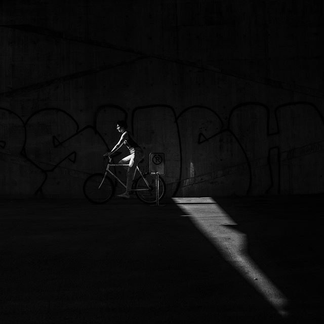 Bikeride. July 29, 2018. Montreal. . . . . . . . . . #light #shadow #contrast #bike #blackandwhite #bikeride #noparking #sun #city #art #montreal #blackandwhitephotography #filmlike #fanho #lightbeam #bicycle #photography #photographer #summer #concrete #grafitti #concretejungle #mtl