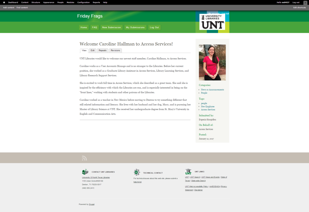 Photo provided by UNT Libraries' Access Services