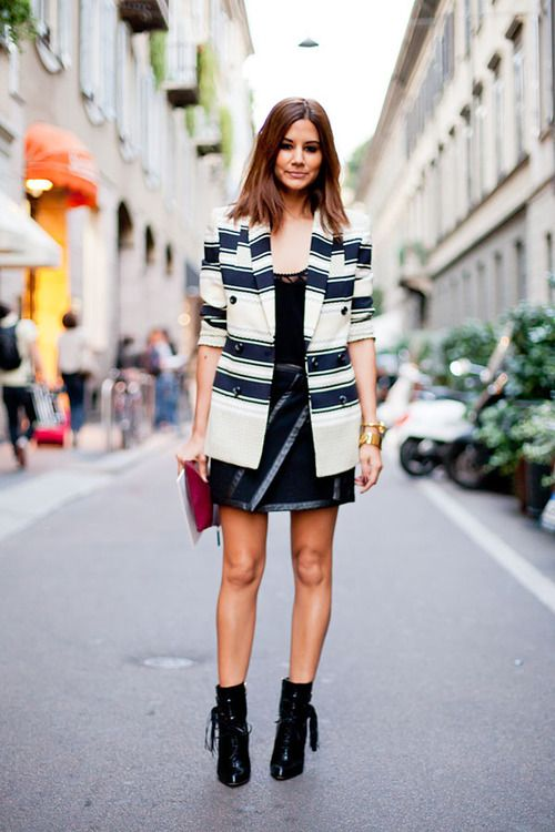 Striped Blazer Fashion